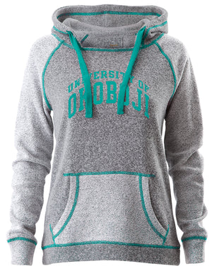Ladies Aqua Blue Trim Horizon Hood U of O Crest