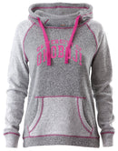 Ladies Pink Trim Horizon Hood U of O Crest