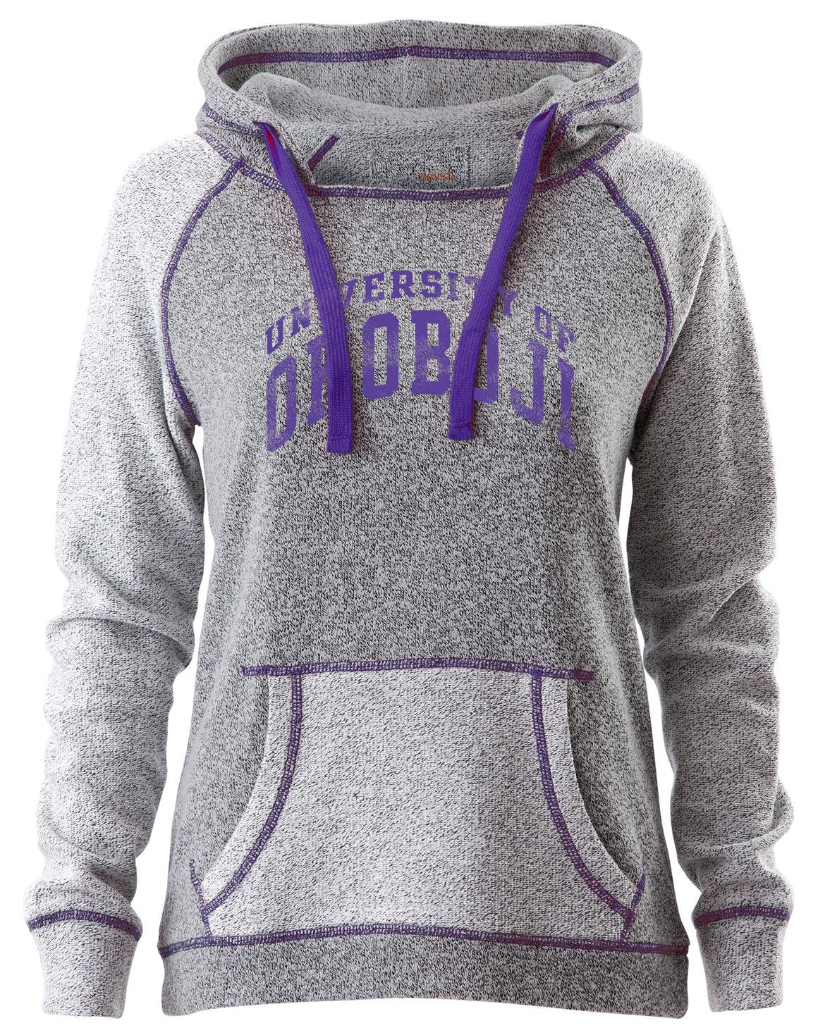 Ladies Purple Trim Horizon Hood U of O Crest