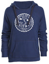 Ladies Marine Navy Horizon Hood U of O Crest