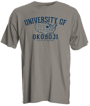 Campus Map Tee - Khaki