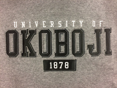 U of O Black on Gray Hoodie
