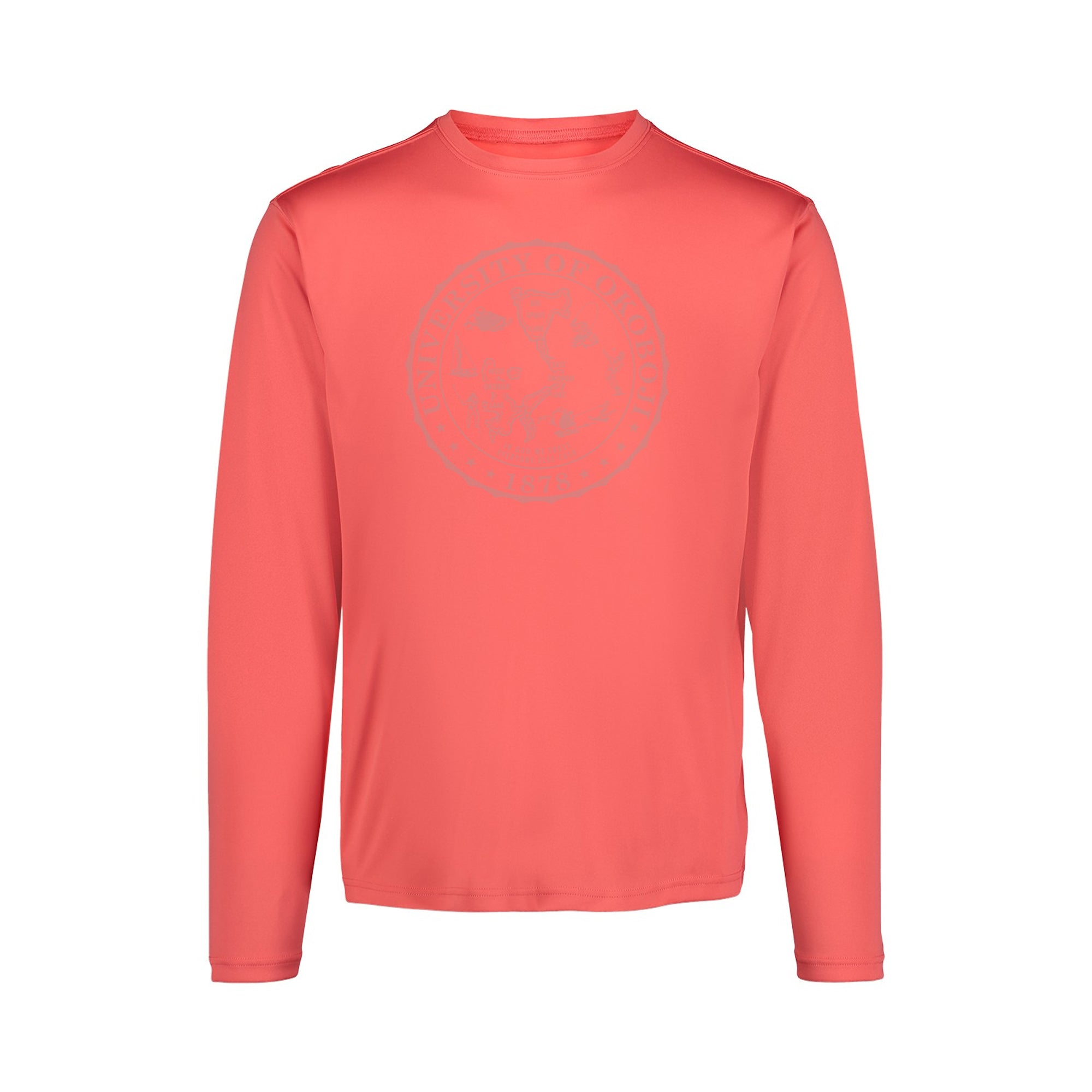University of Okoboji Sunproof™ Long Sleeve Shirt - Watermelon (UPF 50)