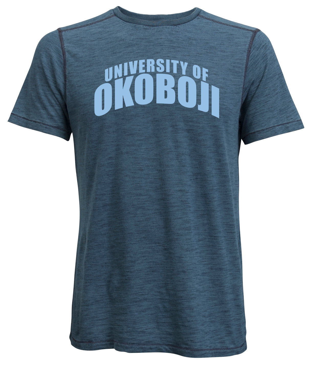 University of Okoboji Romeo Tee - Heathered Navy