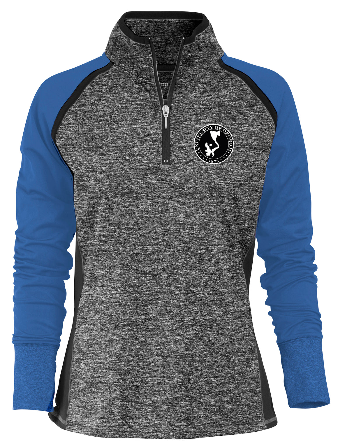 Ladies Two-tone 1/4 Zip - Blue