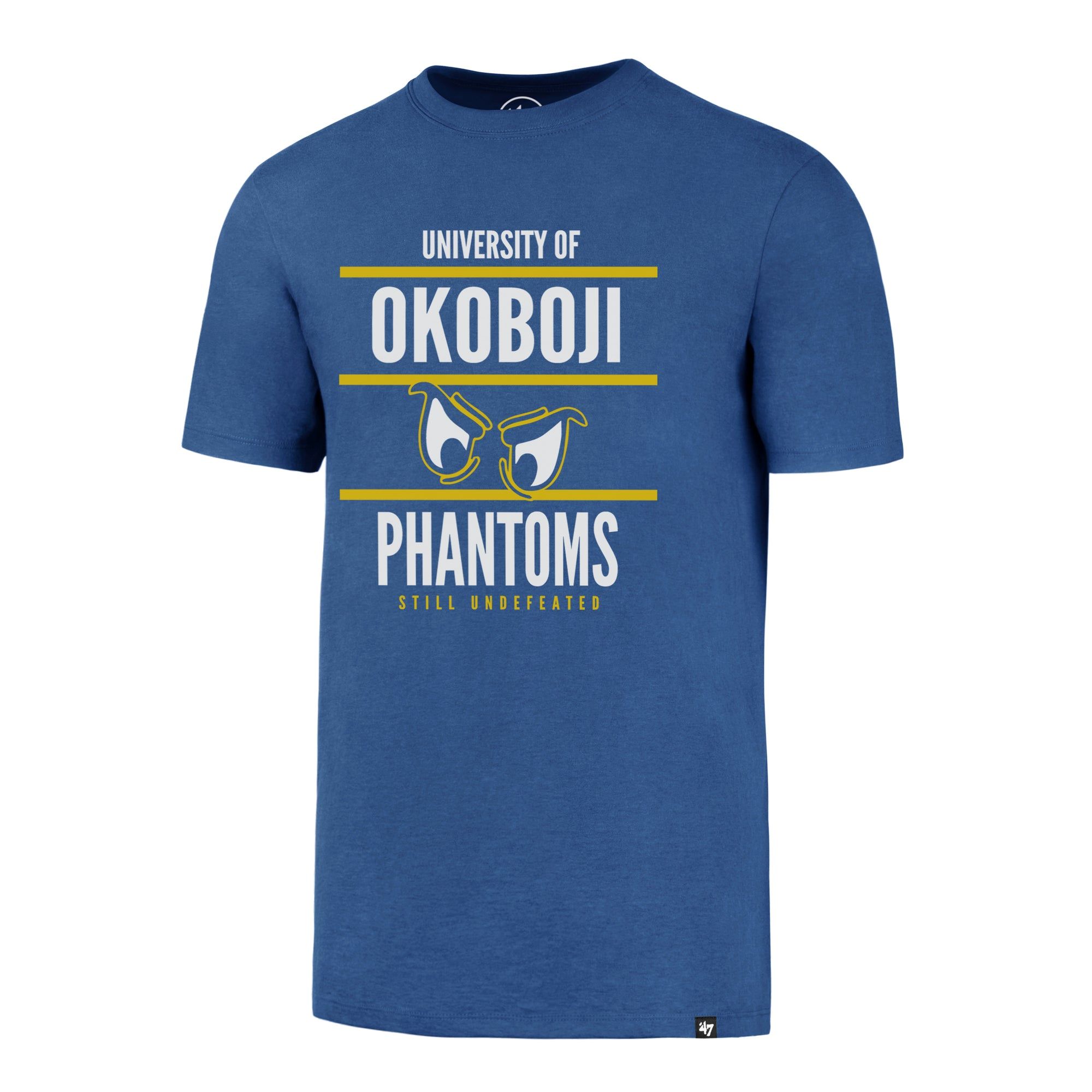 "Okoboji Phantoms ""Still Undefeated"" '47 Flanker - Raz Blue"