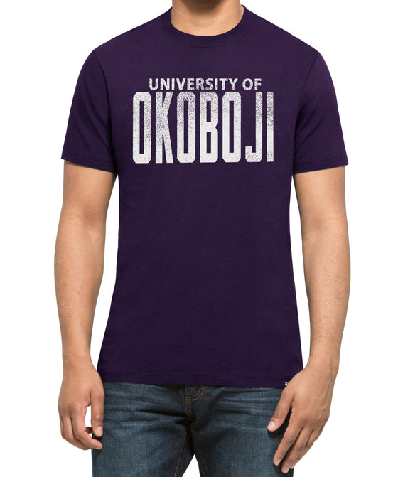 Univeristy of Okoboji Classic Purple Knockaround Splitter Tee