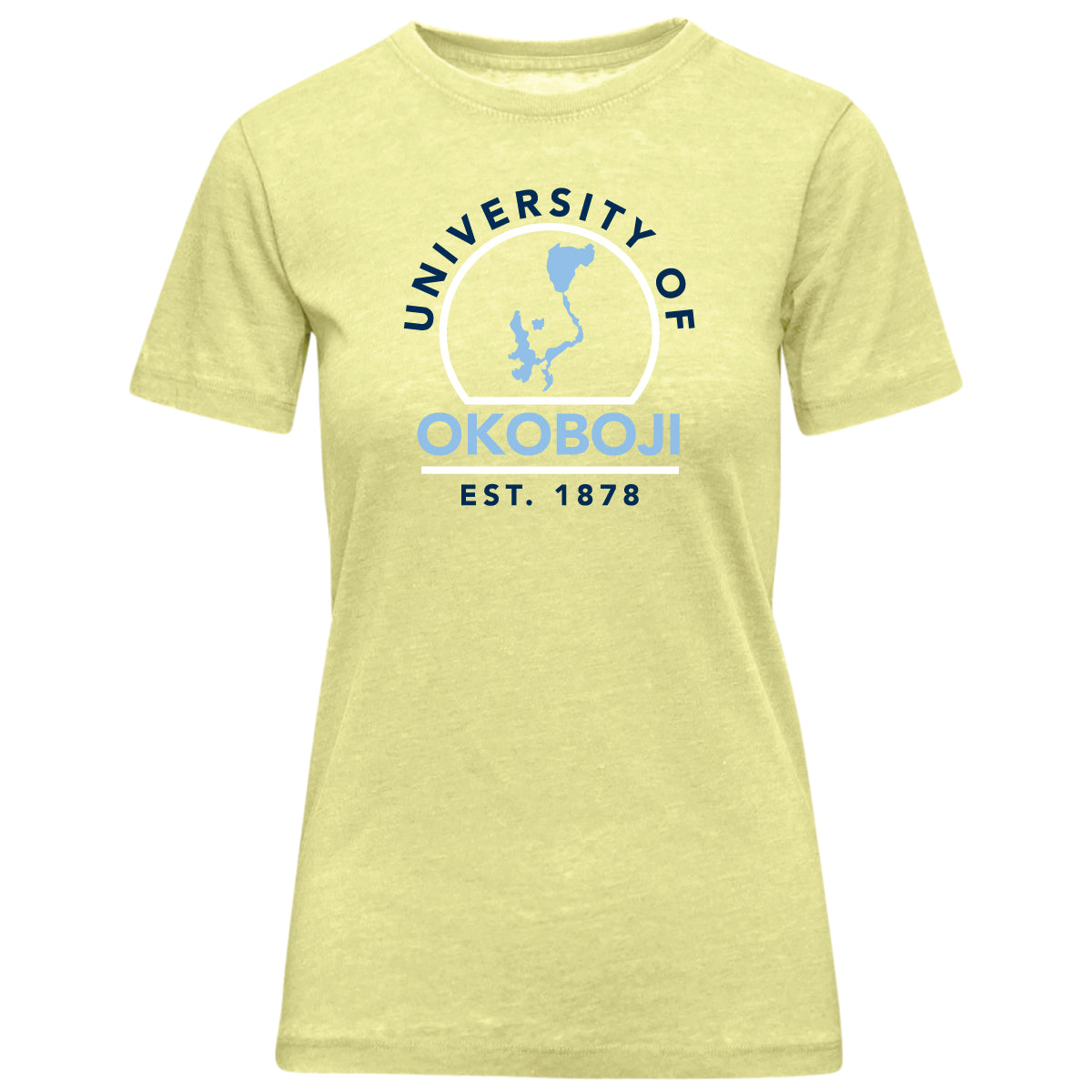 Okoboji Yellow Vintage Washed Tee