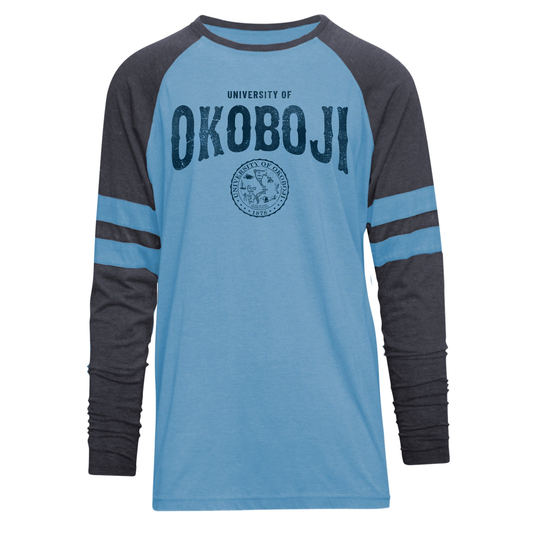 Boji Blue Long Sleeve Baseball Tee