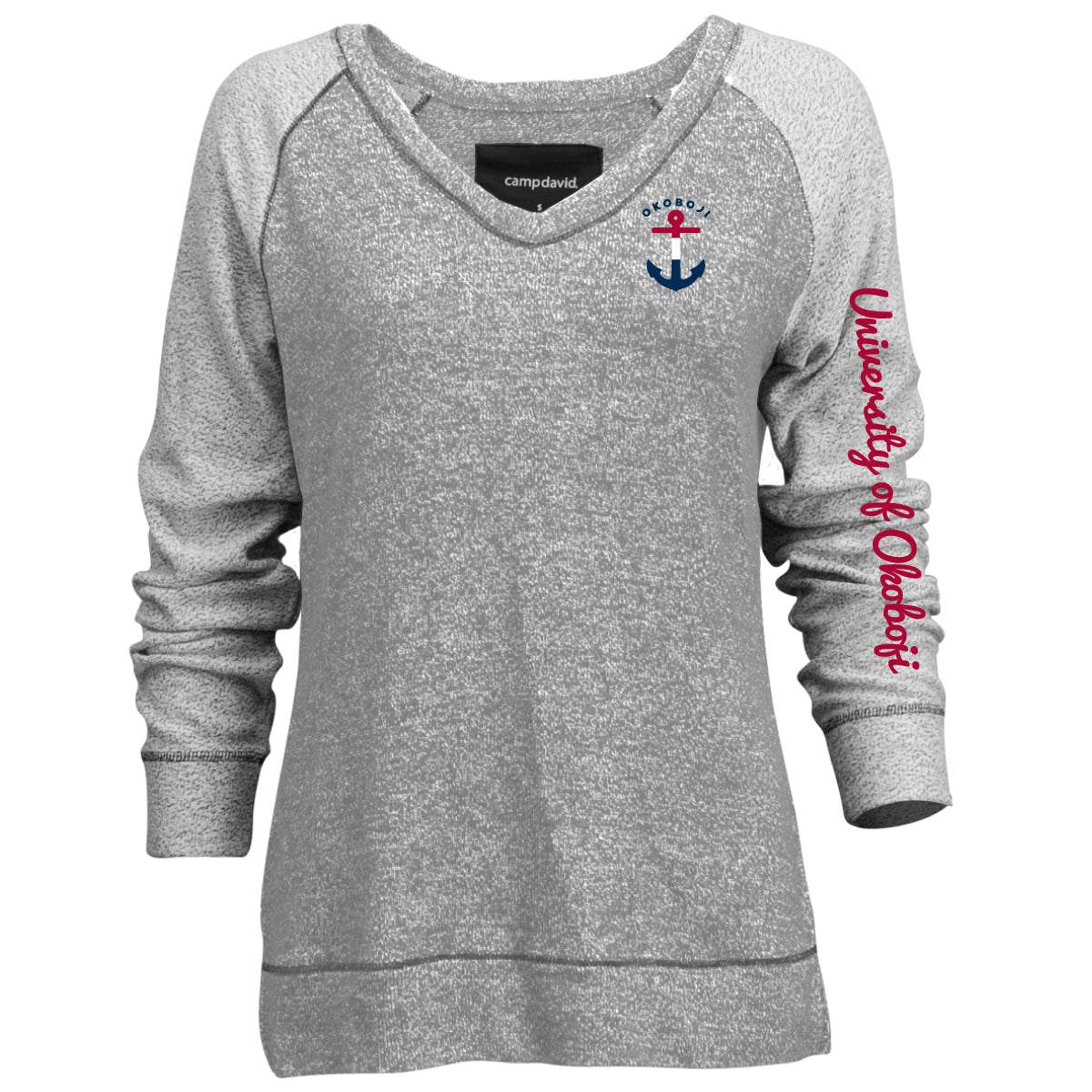 Ladies Okoboji Sweater Knit V-Neck Pullover