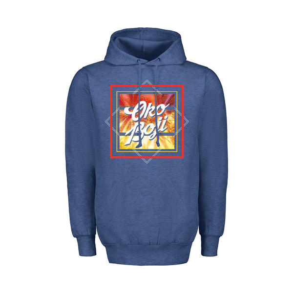 University of Okoboji Retro Heather Hood Sweatshirt - Royal Heather