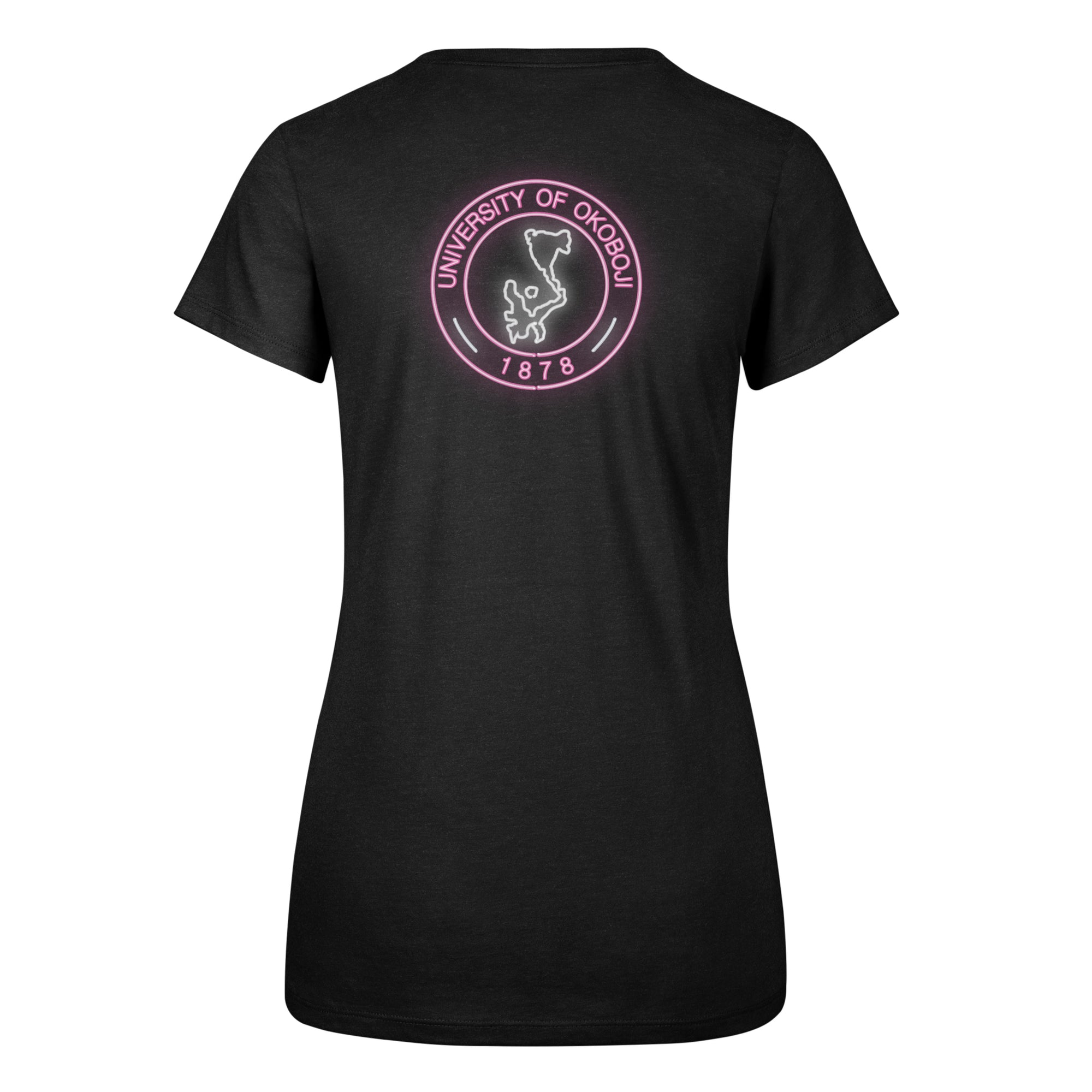 Ladies Neon Circle Okoboji Scoop Neck Tee