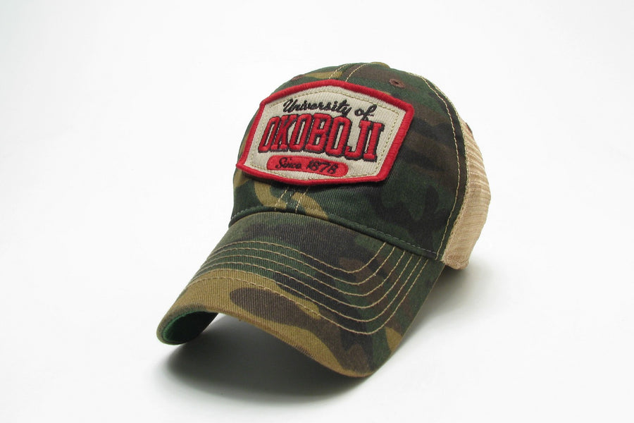 Army Camo Adjustable Trucker Hat