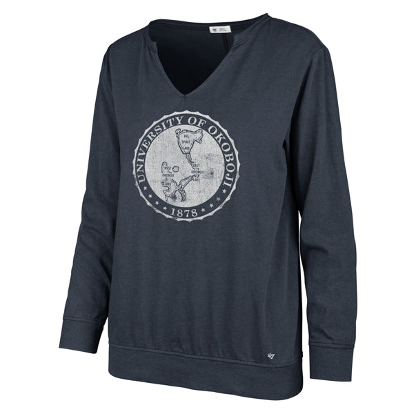Ladies OKOBOJI MIDNIGHT GAMMA LONG SLEEVE TEE - Midnight