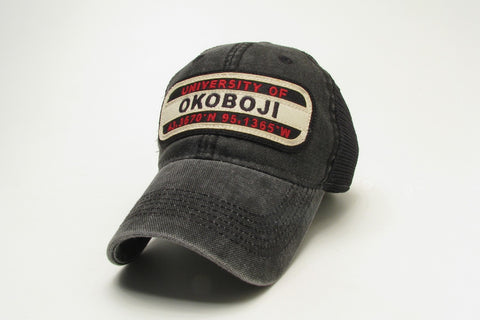 University of Okoboji Dashboard Trucker - Black & Red