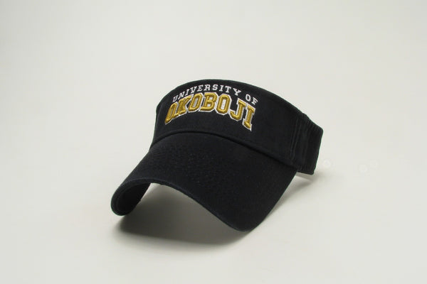 University of Okoboji Relaxed Twill Visor - Black