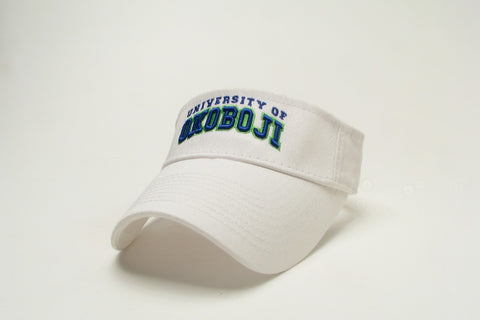 University of Okoboji Relaxed Twill Visor - White