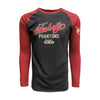 Men's Heritage Raglan Triblend Long Sleeve Tee - Vintage Red