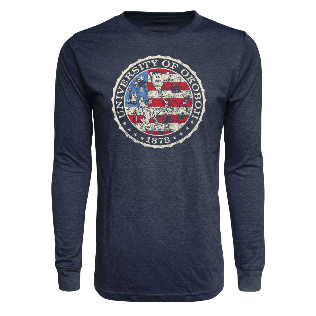 Men's American Flag Triblend Long Sleeve Tee