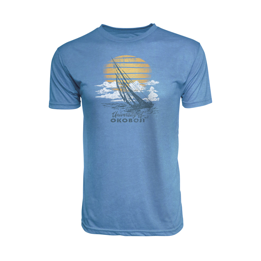 Men's Heritage Colored Triblend Tee - Washed Blue