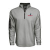 Men's Textured Poly Fleece 1/4 Zip - Gray