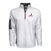 Men's Textured Poly Fleece 1/4 Zip - White