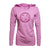 Women's Lightweight Striped Hood - Electric Pink