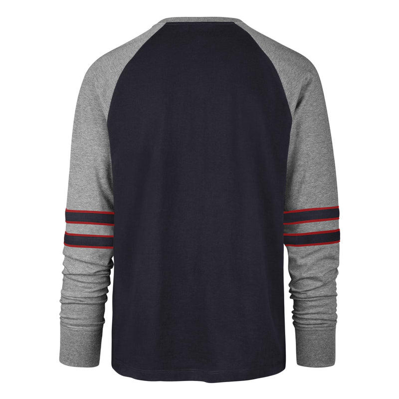 "OKOBOJI FALL NAVY ""HERITAGE WIND UP RAGLAN"" LONG SLEEVE TEE"