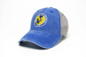 University of Okoboji Royal/Grey Trucker- Blue