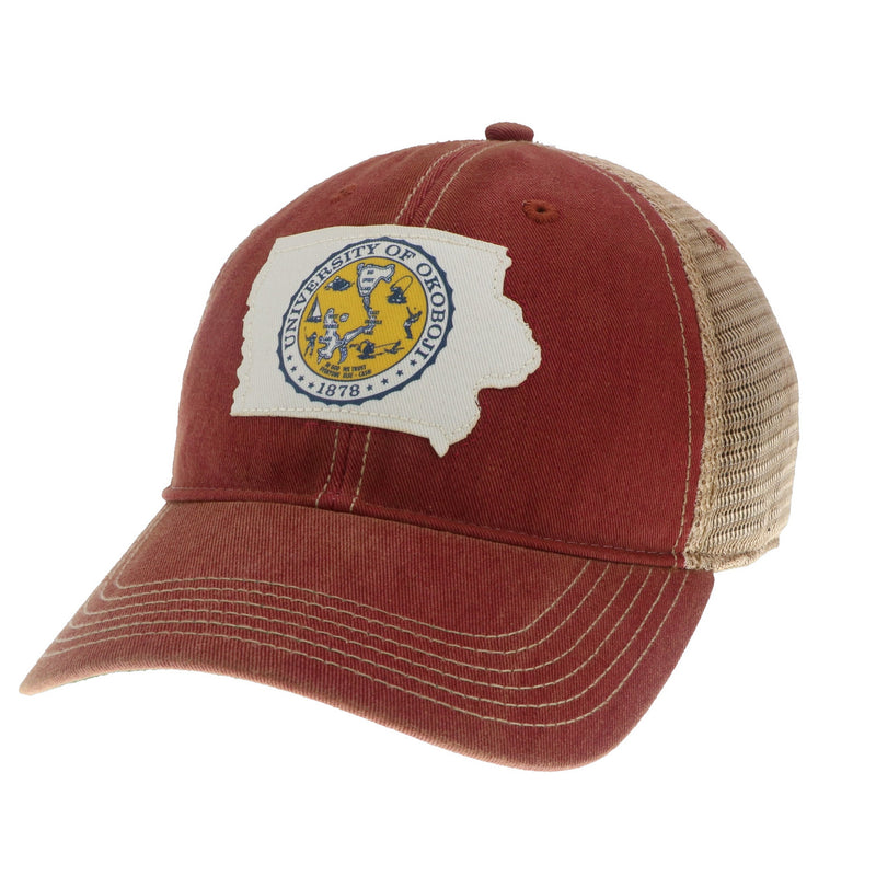 University of Okoboji The Iowa Territory Trucker Hat - Red