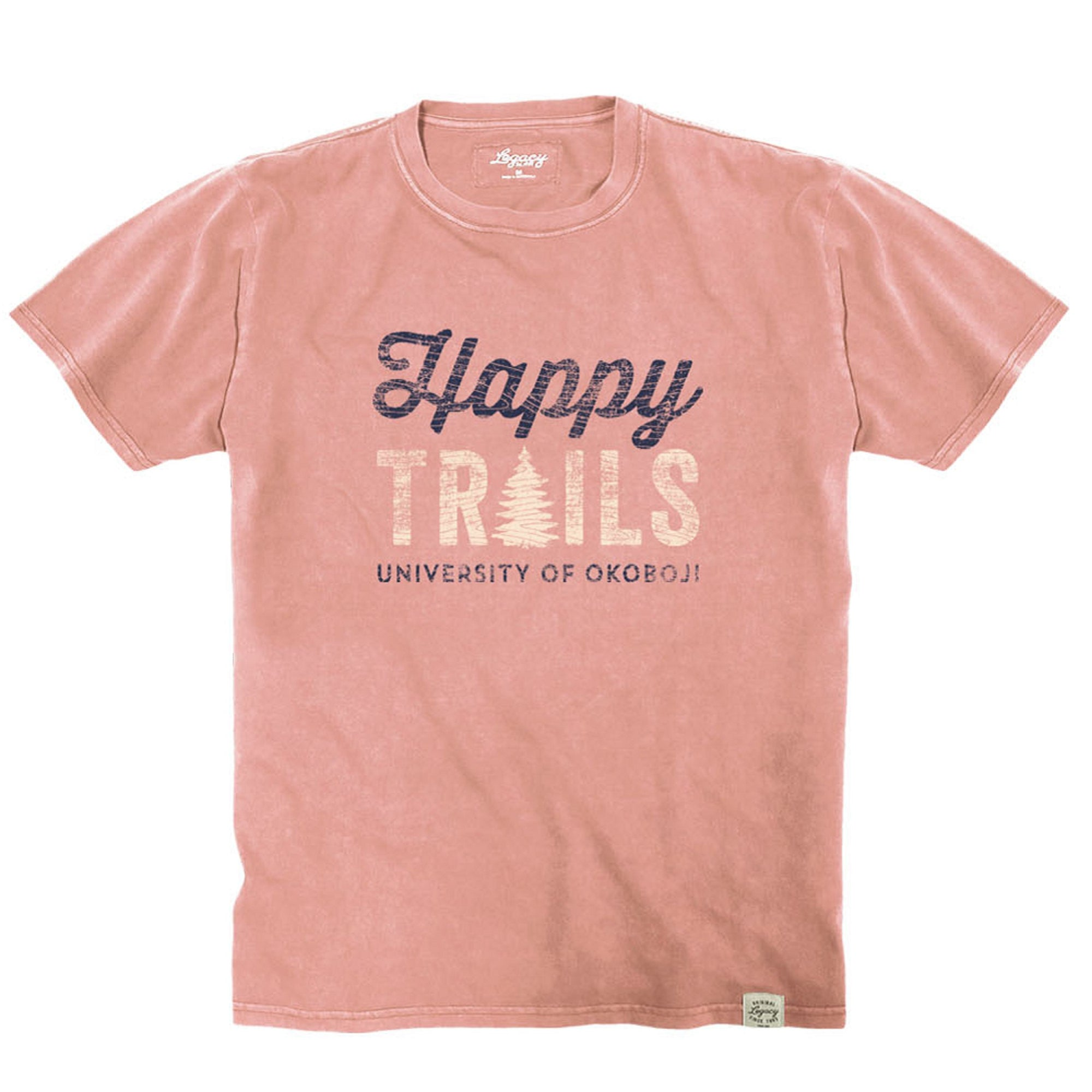 U of O Happy Trails Youth Vintage Wash Crewneck Tee