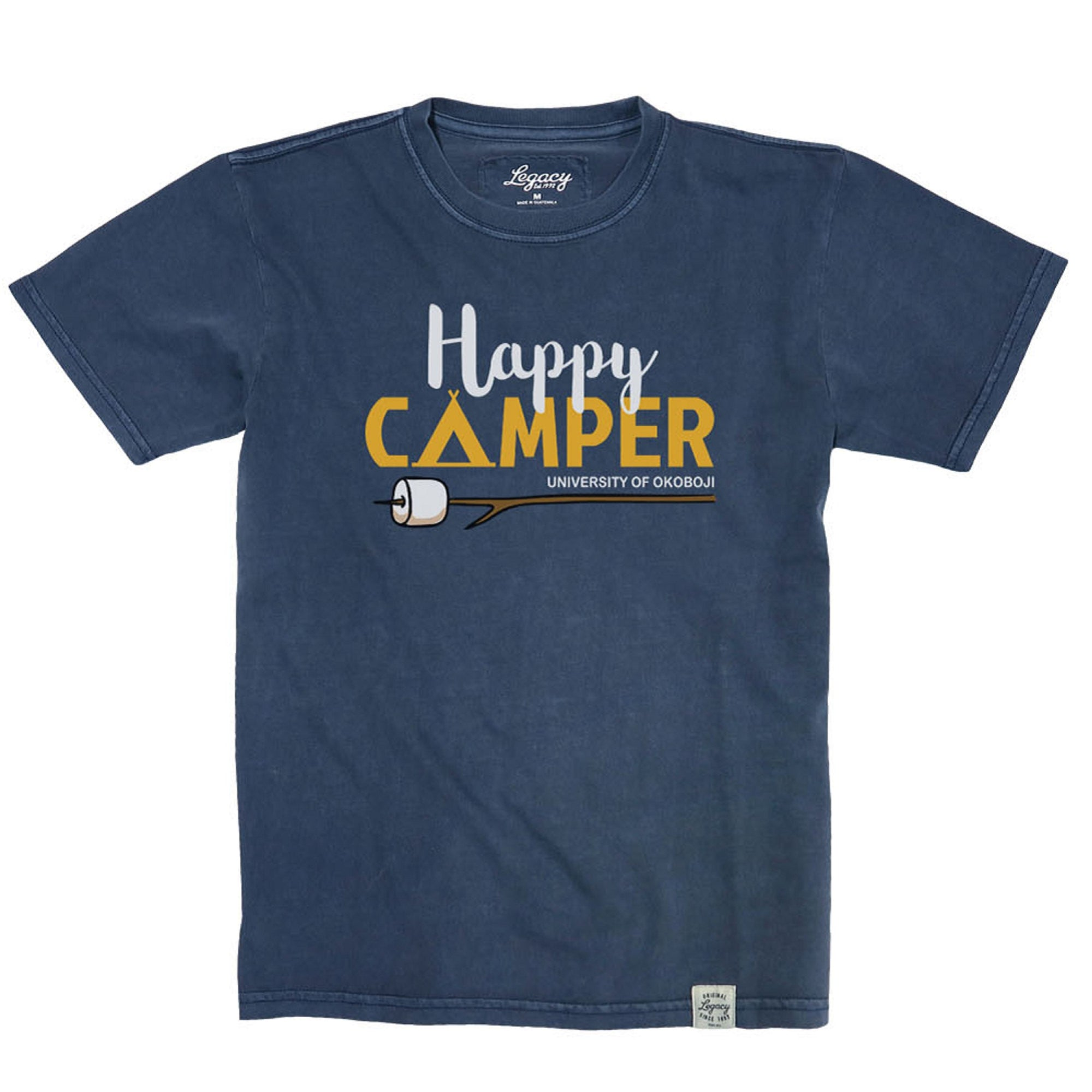 U of O Little Happy Camper Youth Vintage Wash Crewneck Tee