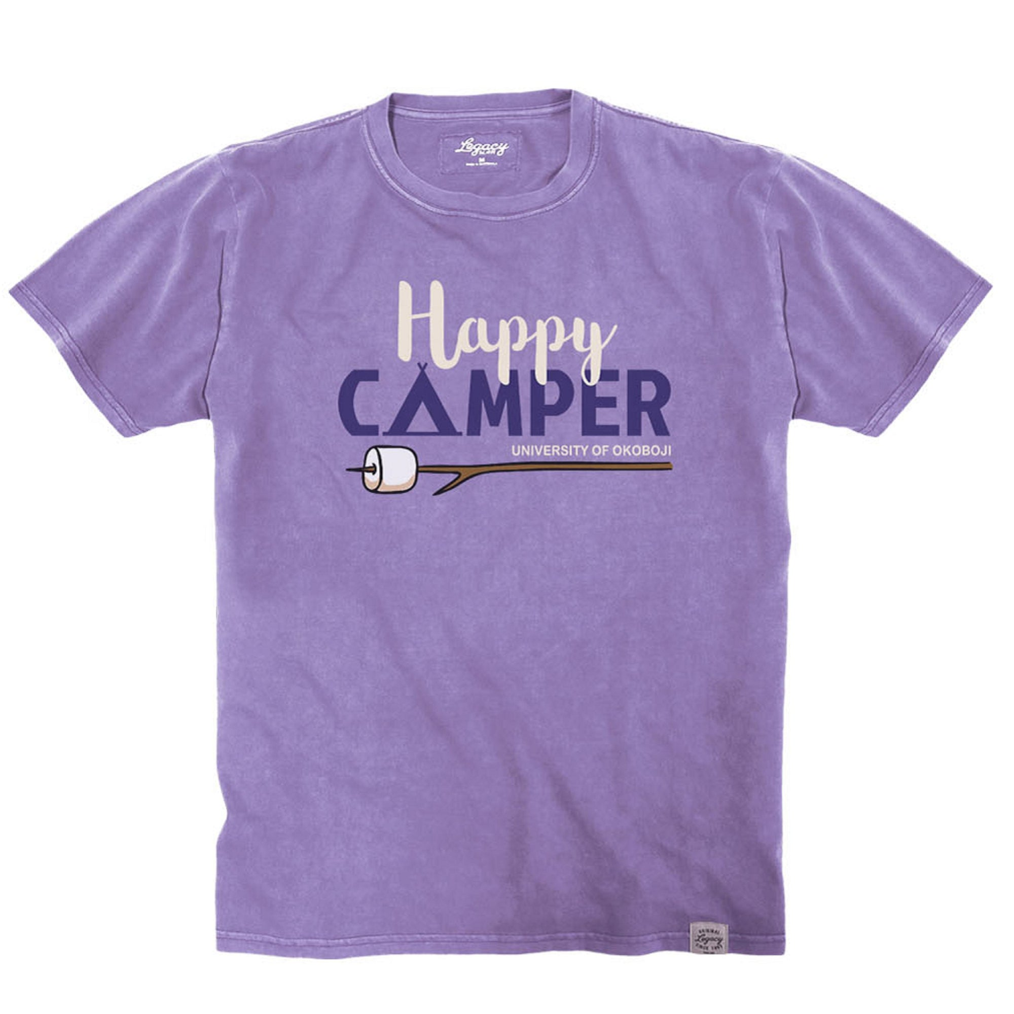 U of O Little Happy Camper Youth Vintage Wash Crewneck Tee - Lavender