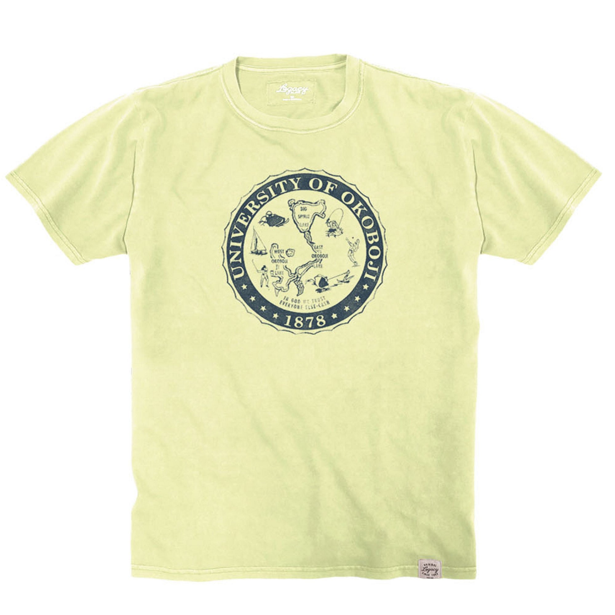 U of O Lemon Crest Youth Vintage Wash Crewneck Tee