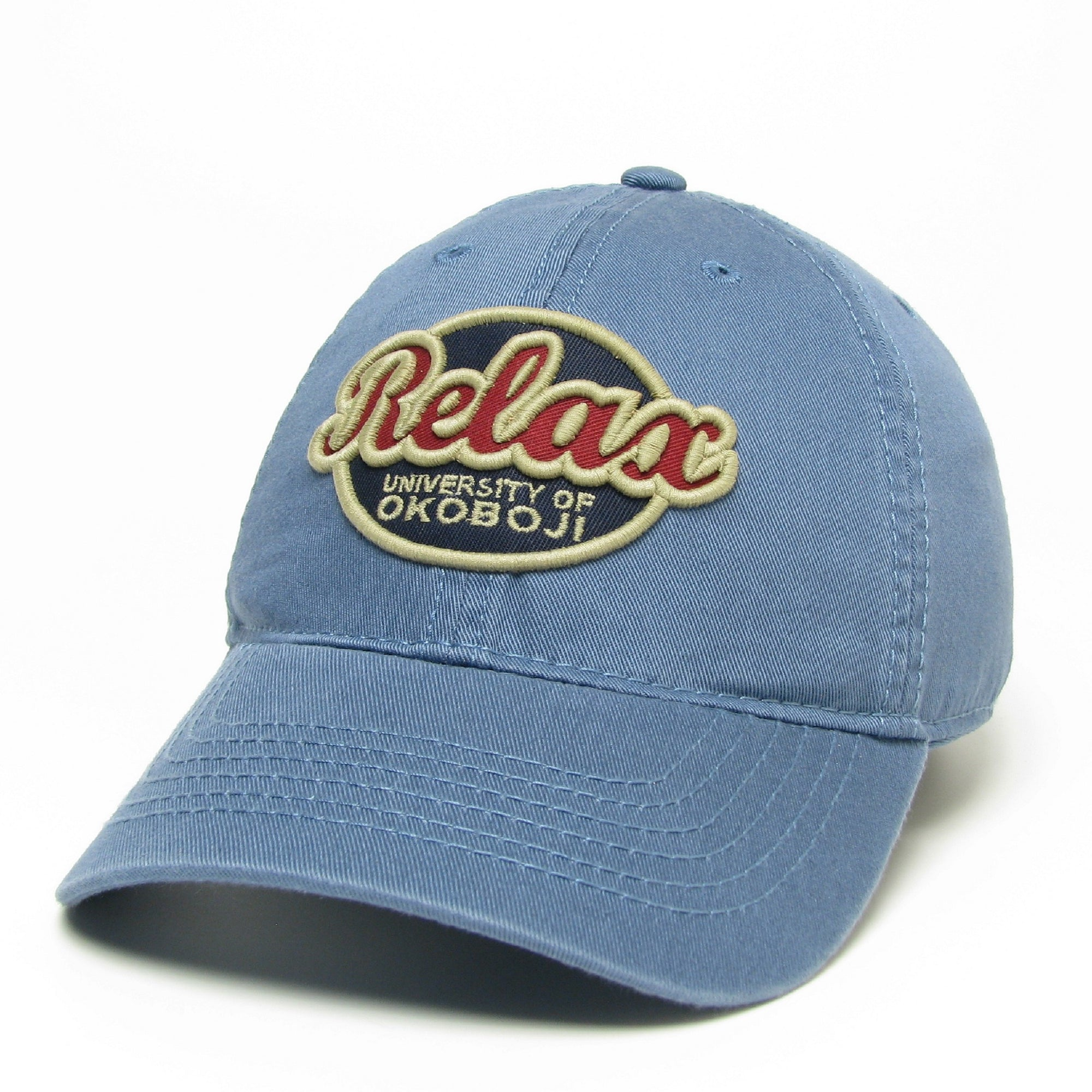 U of O RELAXED TWILL - Lake Blue
