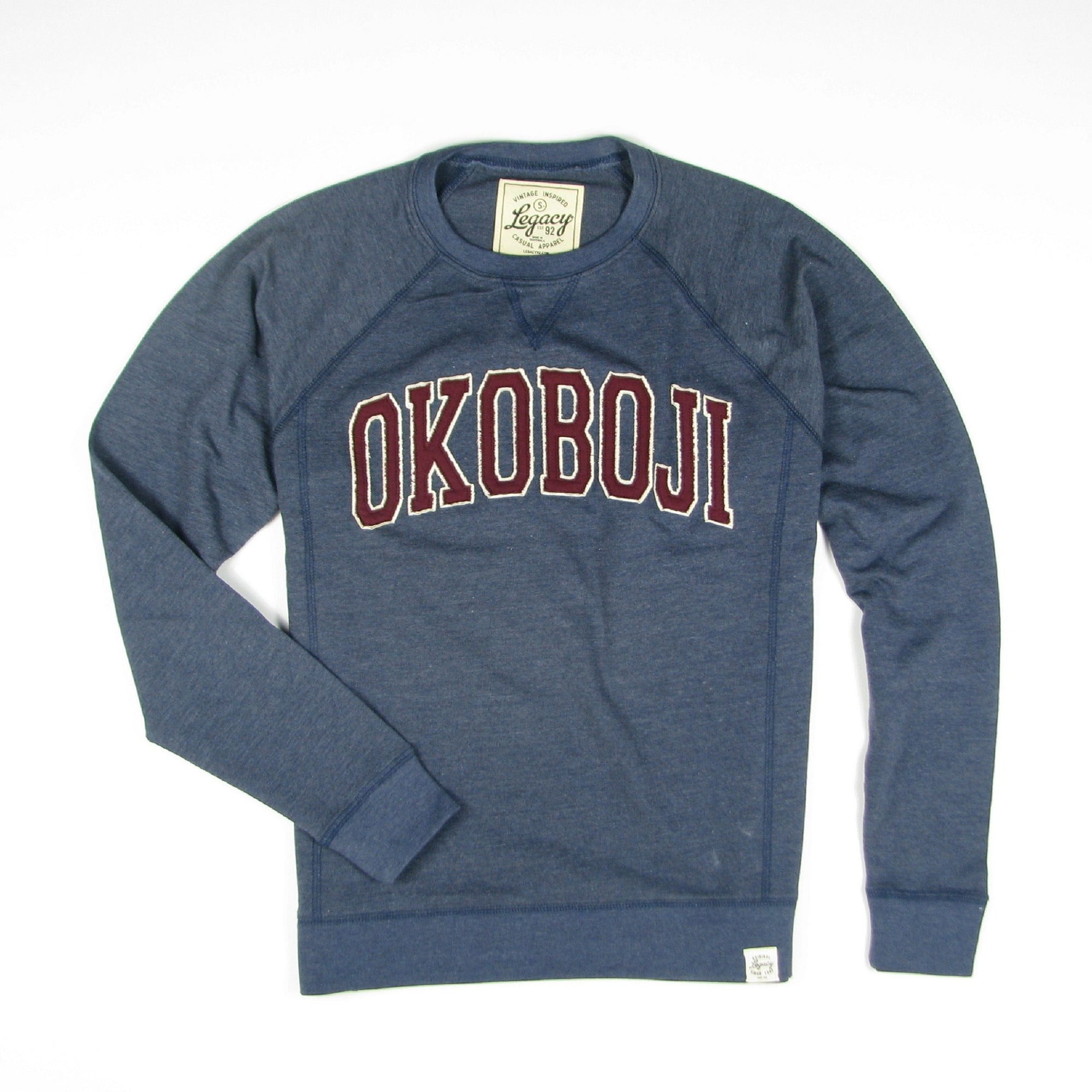 Okoboji Campus FRENCH TERRY FLEECE CREWNECK - Heather Navy