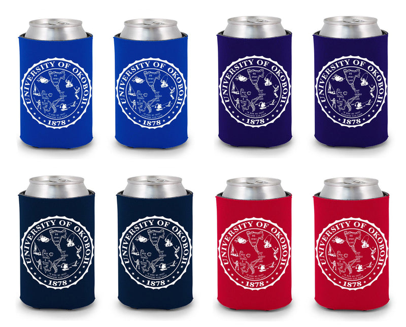 University of Okoboji Koozie 8 Pack - Combination