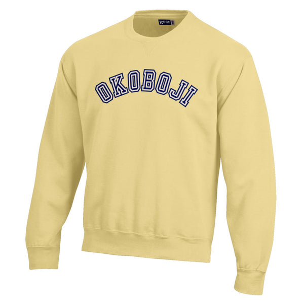 BIG Cotton Okoboji Arch Crew-Butter Yellow