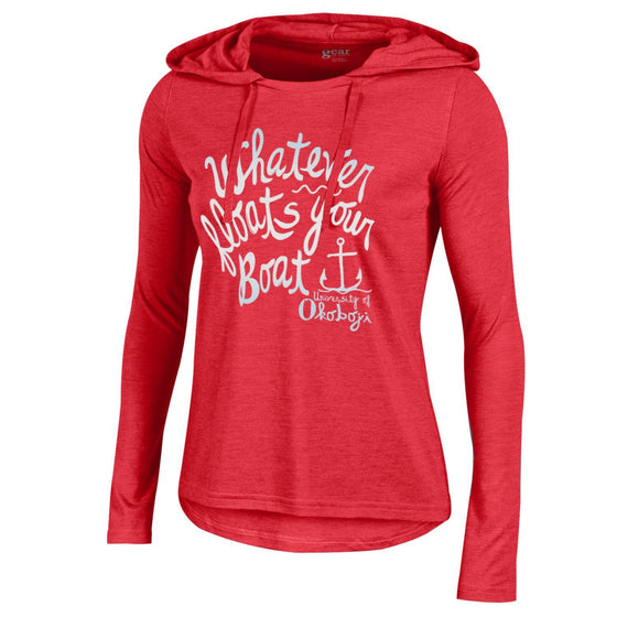 """Whatever Floats Your Boat"" Ladies Light Weight Hoodie"