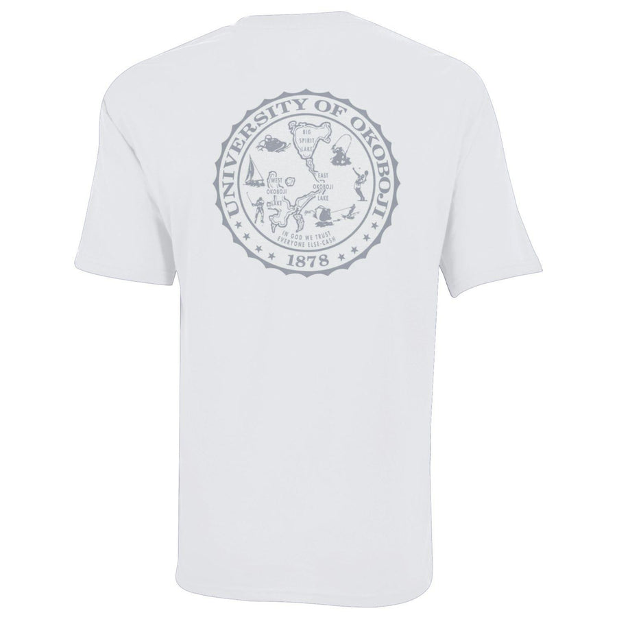 White with Silver Campus Tee T-Shirt