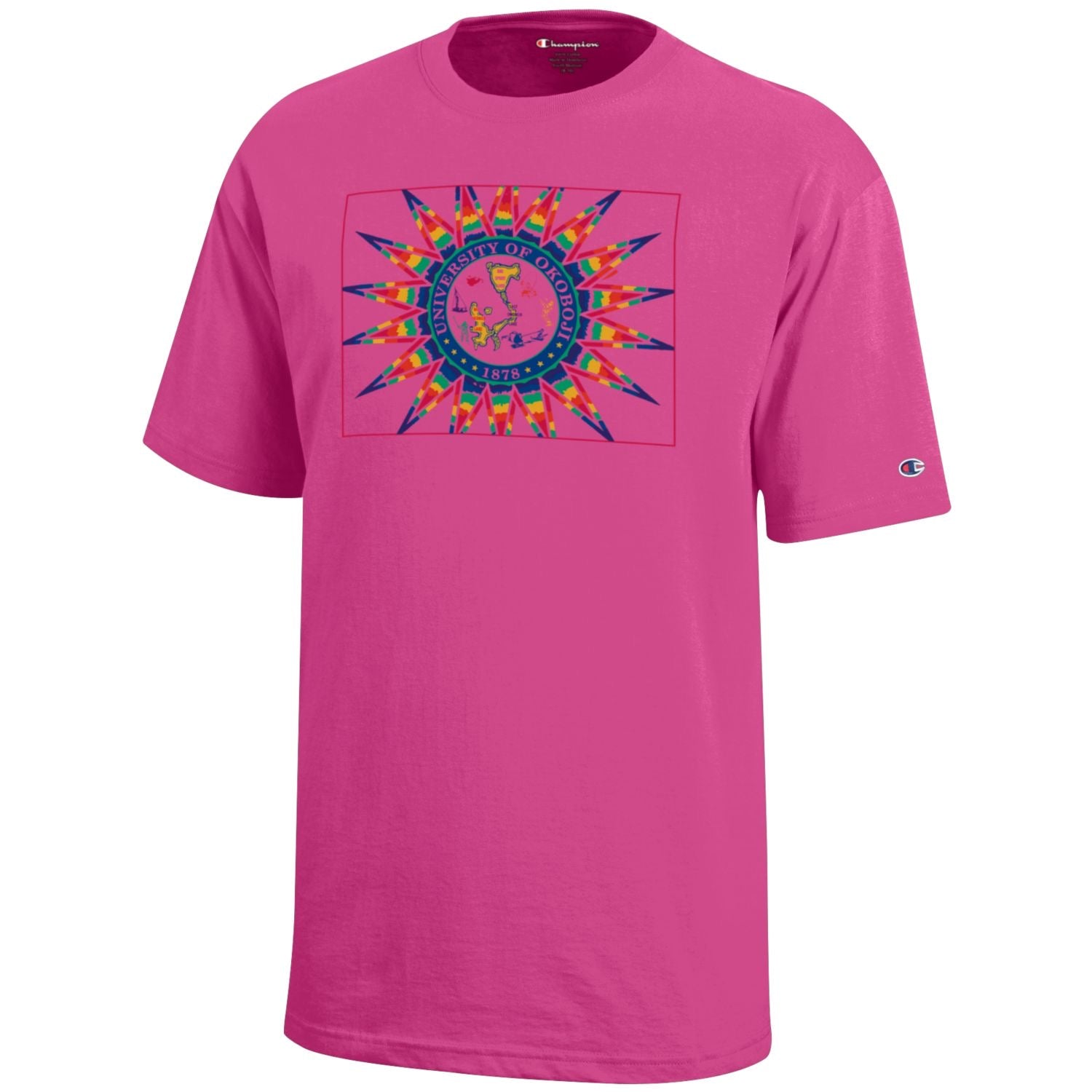 University of Okoboji Young Artist Rainbow Crest - Hot Pink