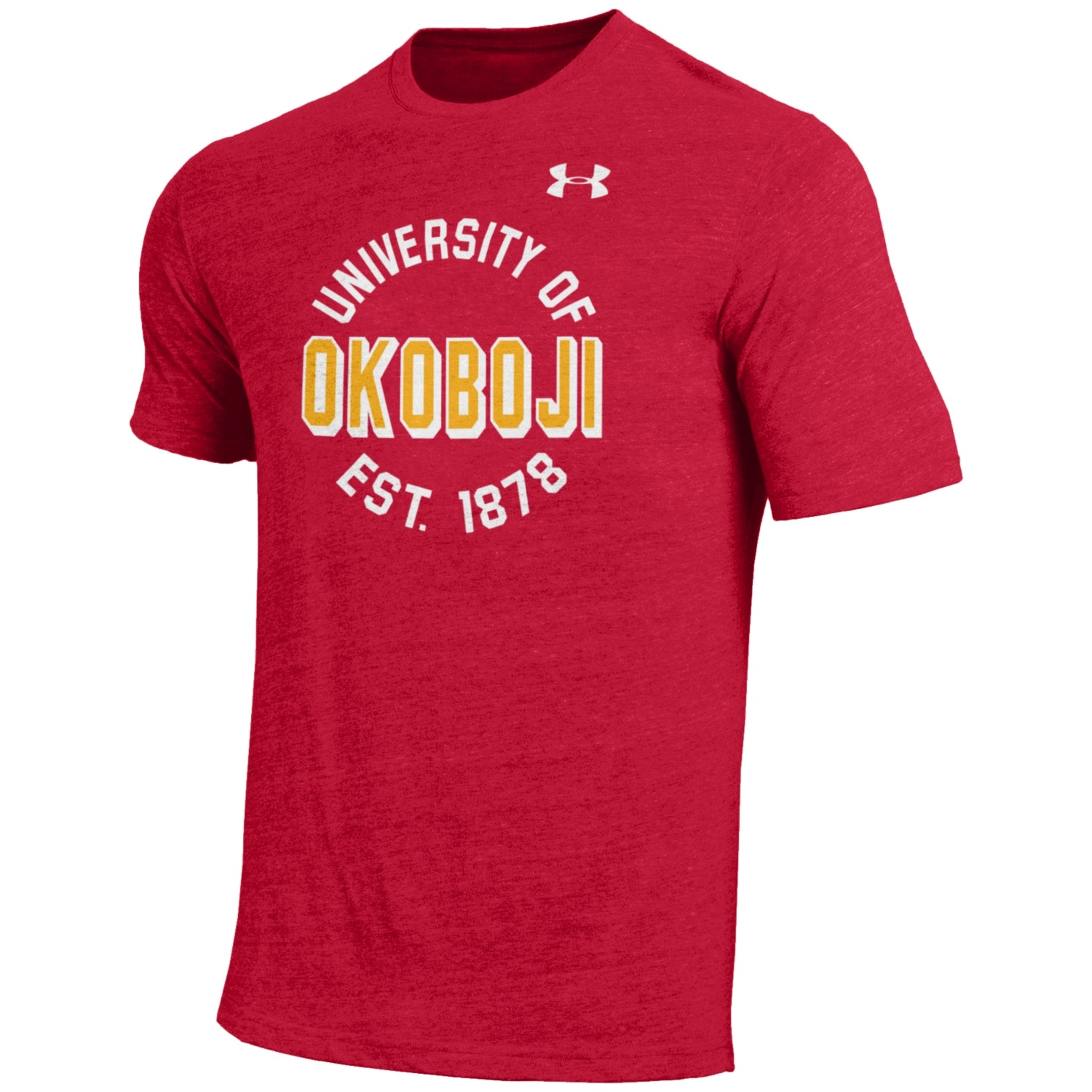 Under Armour Tri-Blend Red Tee - Gold OKOBOJI
