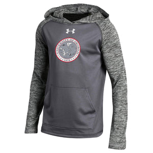 Youth School Crest Tech Hood - Carbon Heather