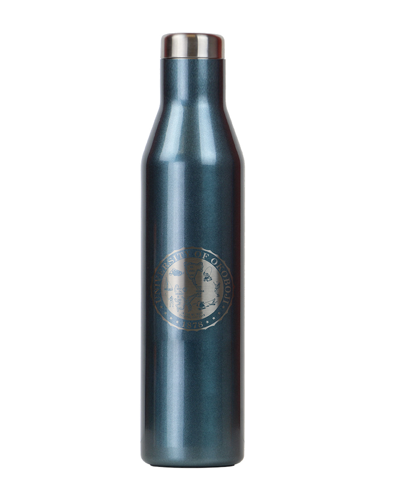 THE ASPEN - U OF OKOBOJI - INSULATED STAINLESS STEEL WATER & WINE BOTTLE - 25 OZ - BLUE MOON