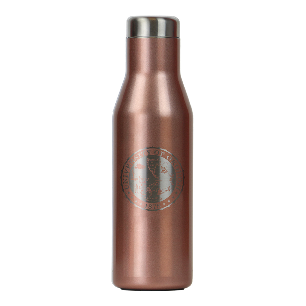 THE ASPEN - U OF OKOBOJI - INSULATED STAINLESS STEEL BOTTLE - 16 FL OZ - Rose Gold