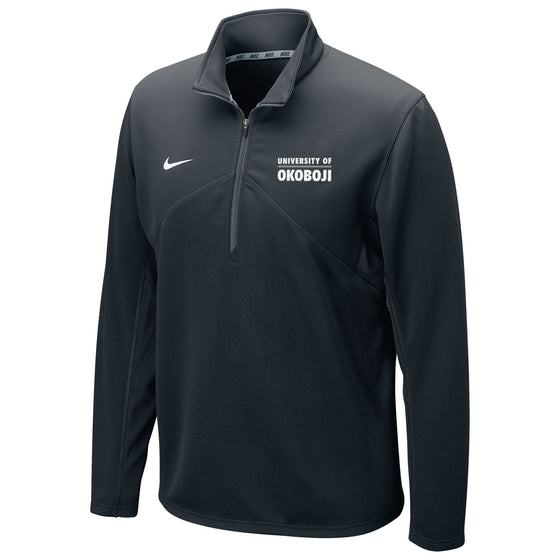 DRI-FIT TRAINING 1/4 ZIP U of O TOP - Black