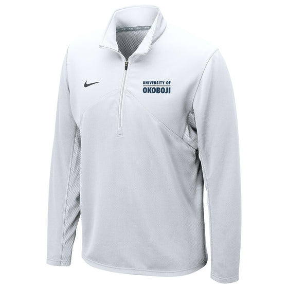 DRI-FIT TRAINING 1/4 ZIP U of O TOP - White