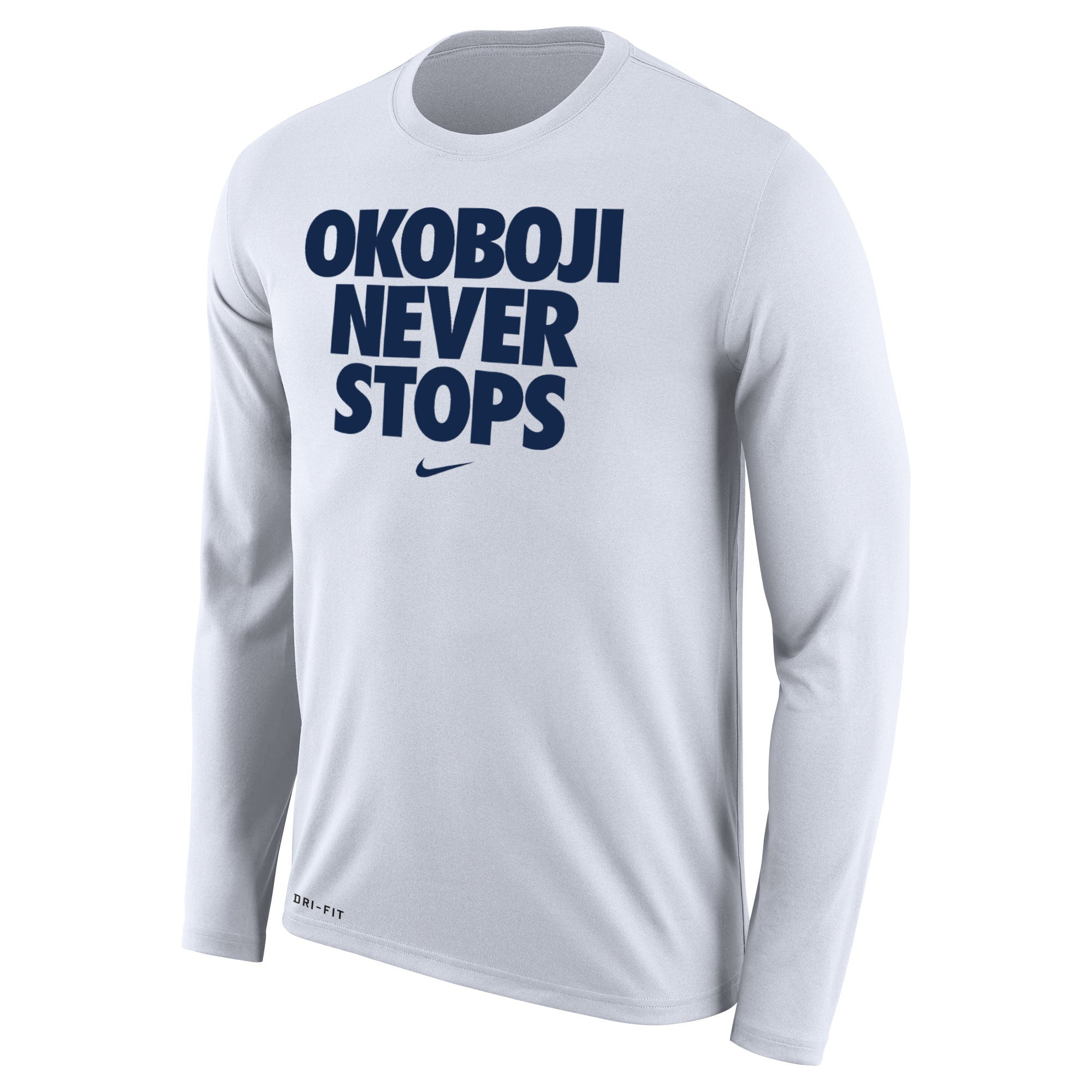 OKOBOJI NEVER STOPS Long-sleeved Tee (White)
