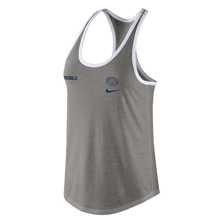 Women's Nike Tri-Blend Racerback Tank - D. Heather