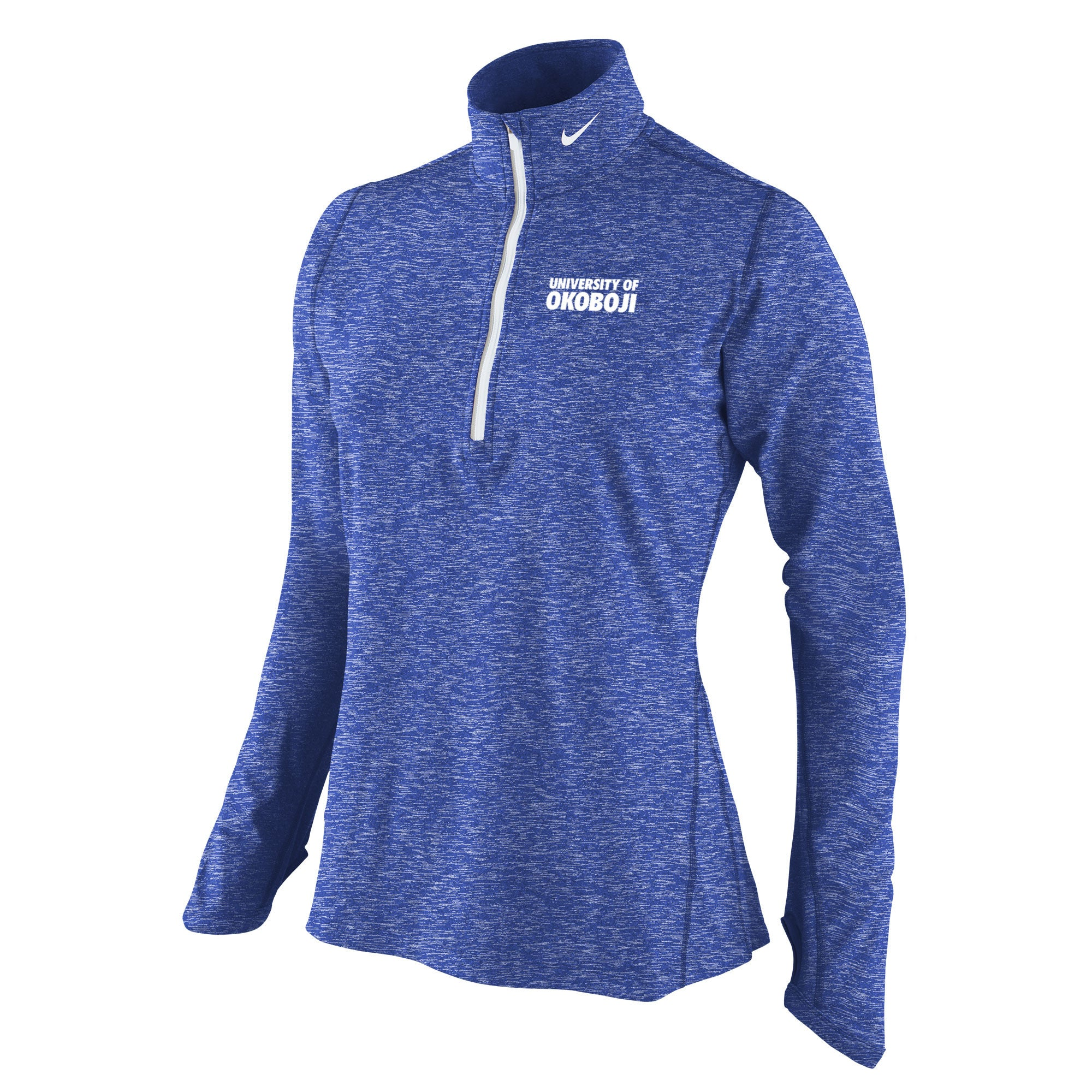 Ladies Heather Element 1/4 Zip Top - Heathered Royal Okoboji